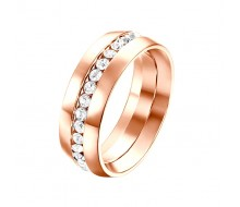 Bague - Yparah - Orion Or Rose en Cristal