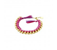Bracelet DO-BRAZIL- Rose et purple Plaqué OR